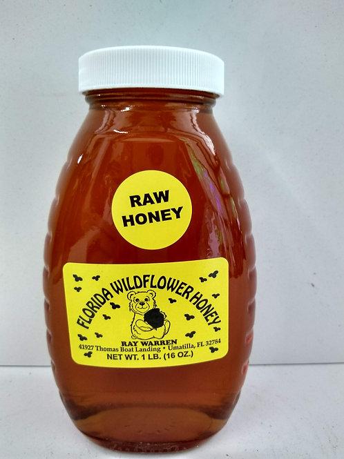 Wildflower Raw Honey- 1lb-glass jar