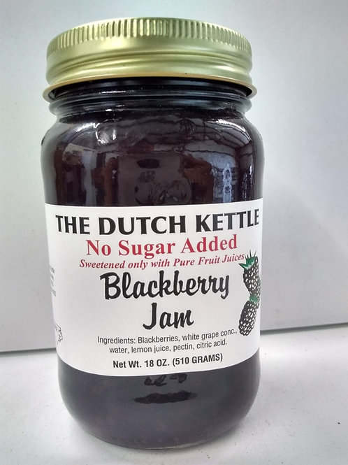 The Dutch Kettle Blackberry Jam - No Sugar Added,18oz