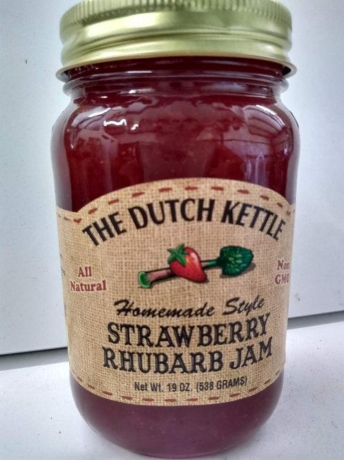 The Dutch Kettle Strawberry Rhubarb Jam,19oz