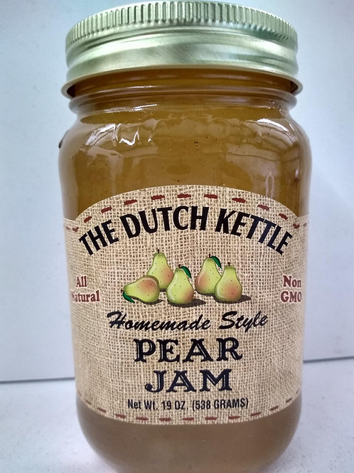 The Dutch Kettle Pear Jam, 19oz