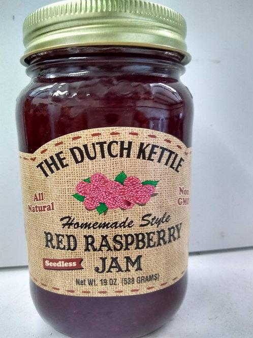 The Dutch Kettle Red Raspberry Jam - Seedless, 19oz
