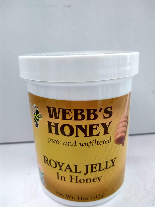 Webb's Royal Jelly 11 oz in Orange blossom honey
