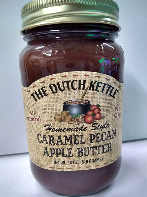 The Dutch Kettle Carmel Pecan Apple Butter, 18oz