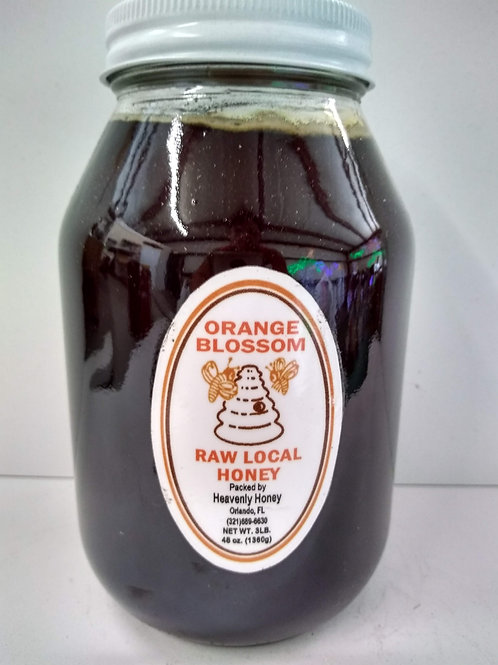 Orange Blossom Raw Honey, glass jar- 32oz