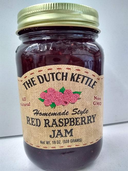 The Dutch Kettle Red Raspberry Jam, 19oz