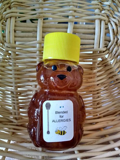 Blended for Allergies Raw Honey Bear- 2 oz.