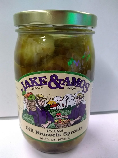 Jake & Amos Pickled Brussel Sprouts- 16oz