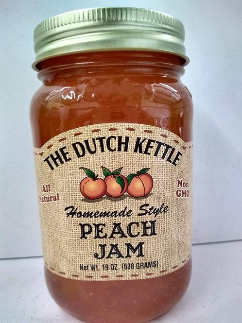The Dutch Kettle Peach Jam, 19oz
