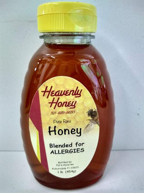 Blended for Allergies Raw  Honey-1 LB
