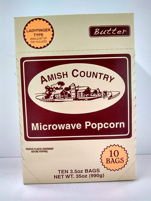 Lady Finger Type Butter Microwave Popcorn, 10-3.5oz bags