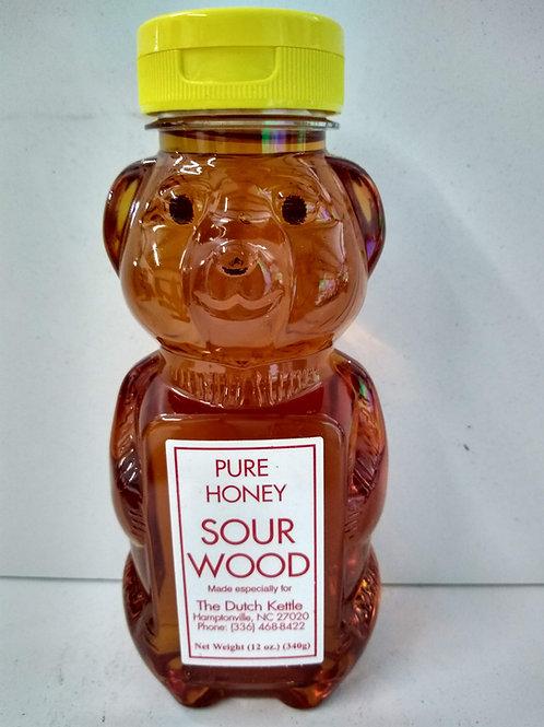 Honey Bear Sourwood Raw Honey - 12oz