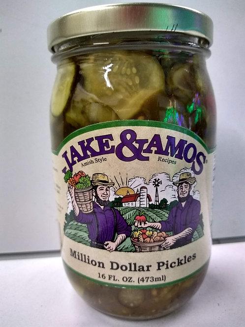 Jake & Amos Million Dollar Pickles - 16oz