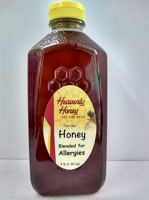 Blended for Allergies Raw  Honey- 3LB