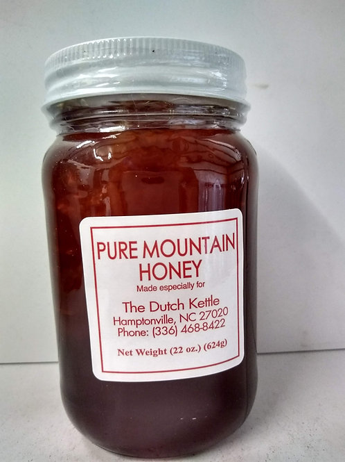Pure Mountain Honey, glass jar- 22oz