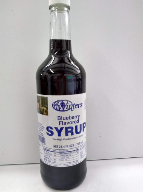 Winter's Blueberry Syrup, 25.4oz