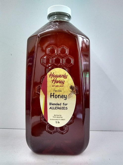 Blended for Allergies Raw  Honey- 5LB
