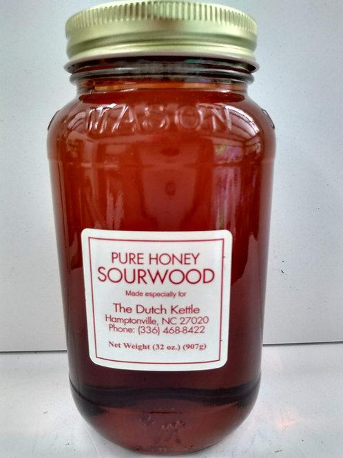 Pure Mountain Raw Honey, glass jar-32oz