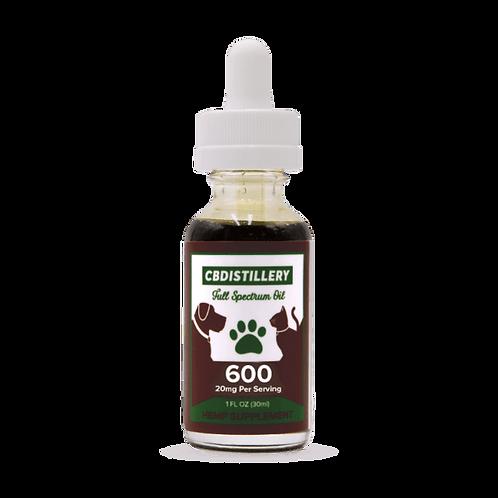 600mg 30ml CBD Pet Tincture