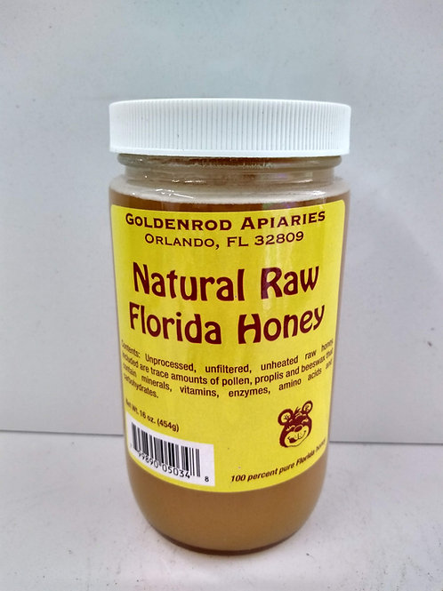 Natural Raw Florida Honey- 16oz