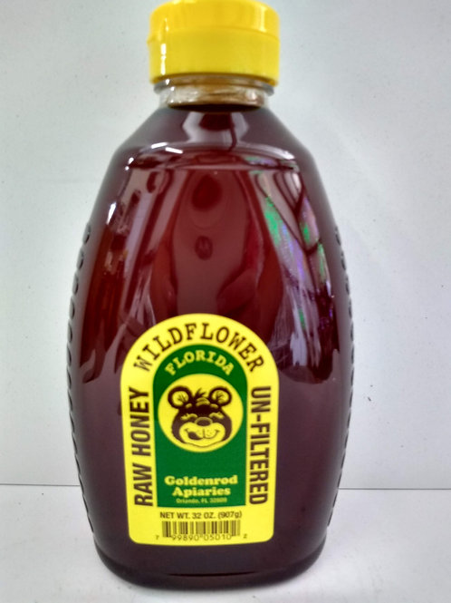 Wildflower Raw  Honey- 32oz