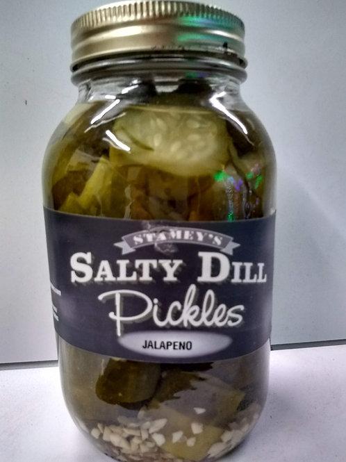 Stamey's Salty Dill Pickle w/ Jalapeno, Qt