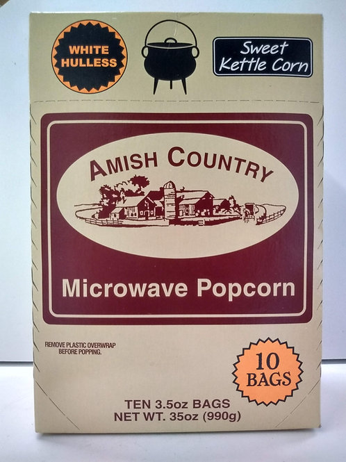 Amish Country Microwave Kettle Popcorn- 10 bags