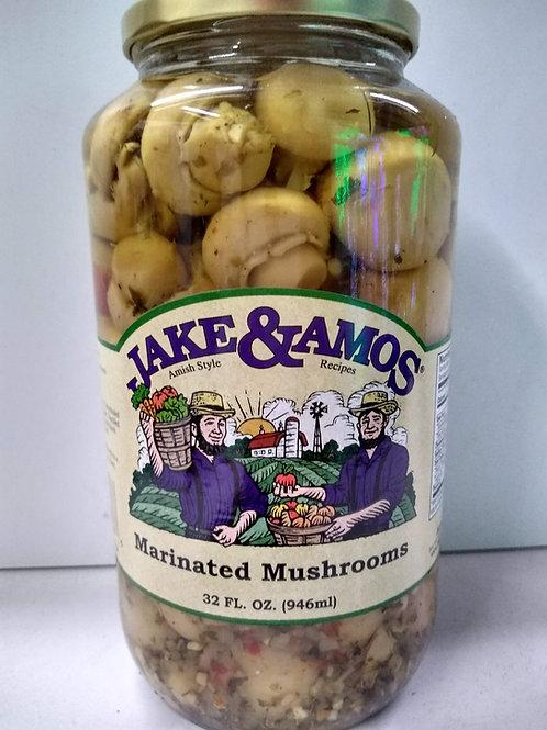 Jake & Amos Marinated Mushrooms- 32oz