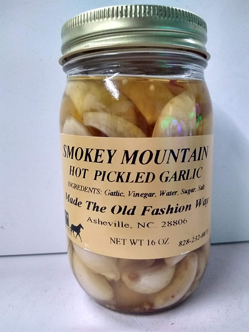 Smokey Mountain Hot Pickled Garlic, 16oz