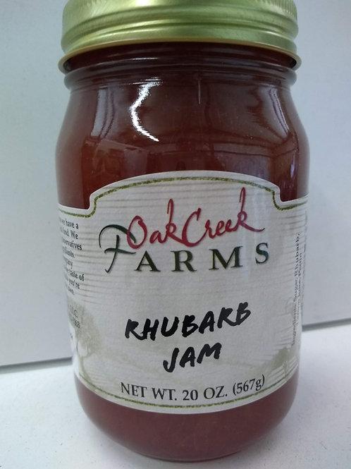 Oak Creek Farms Rhubarb Jam, 20oz