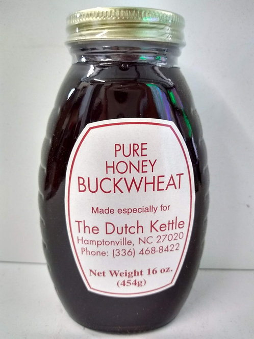 Buckwheat Raw Honey, glass jar- 16oz