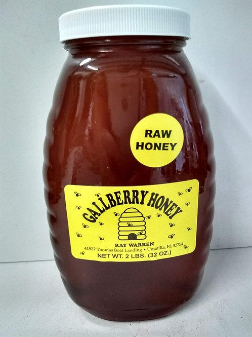 Gallberry Raw Honey-glass jar, 2lbs