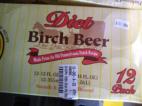 Diet Pennsylvania Dutch Birch Beer, 12/12oz cans