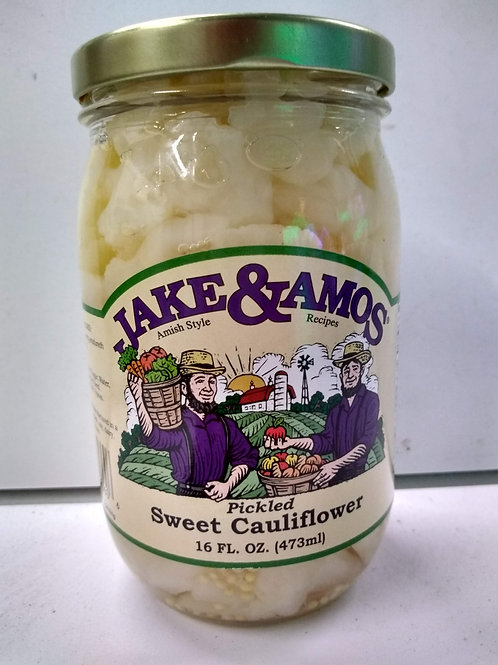 Jake & Amos Sweet Pickled Califlower- 16oz