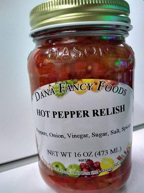 Dana Fancy Foods Hot Pepper Relish, 16oz