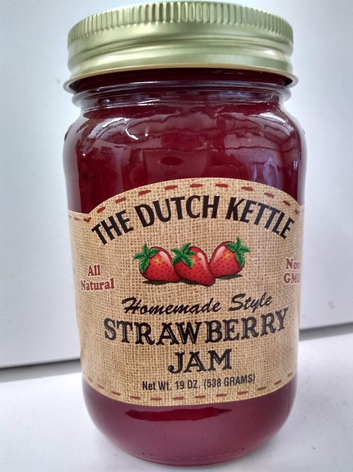 The Dutch Kettle Strawberry Jam,19oz
