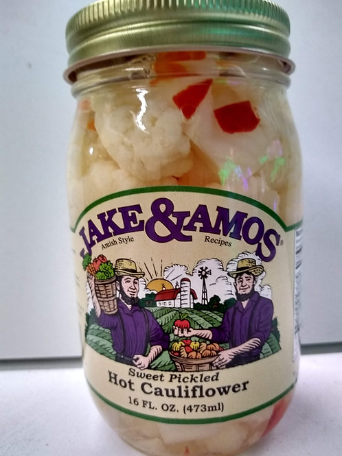 Jake & Amos Sweet Pickled Hot Califlower- 16oz