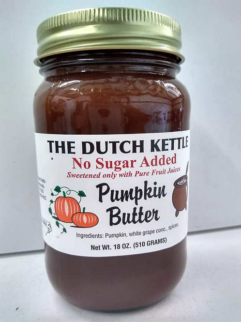The Dutch Kettle Pumpkin Butter, 18oz no granulated sugar added