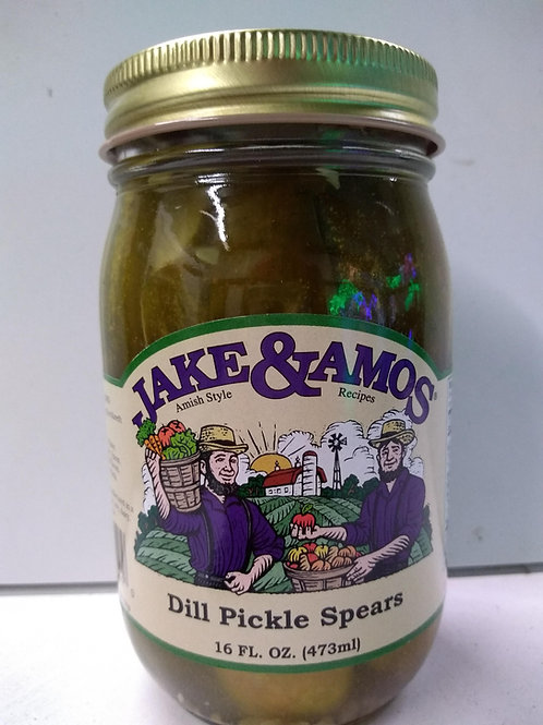 Jake & Amos Dill Pickle Spears- 16oz