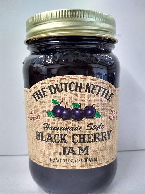 The Dutch Kettle Black Cherry Jam, 19oz