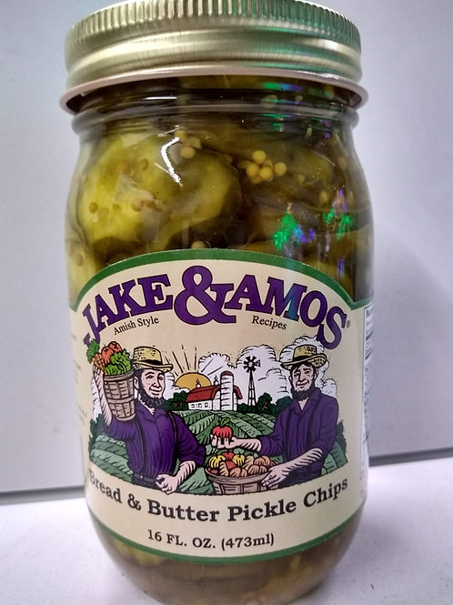 Jake & Amos Bread and Butter Pickle Chips - 16oz