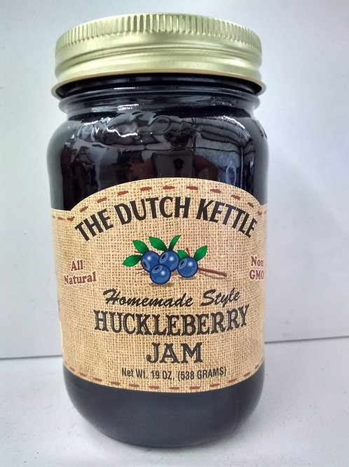 The Dutch Kettle Huckleberry Jam, 19oz