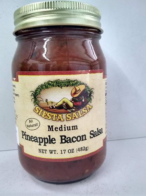 Siesta Salsa Pineapple Bacon Salsa-Medium 17oz