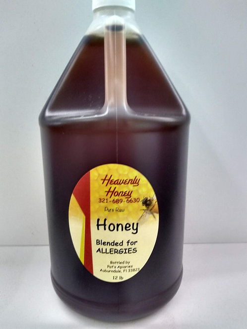 Blended for Allergies Raw Honey-1 gallon