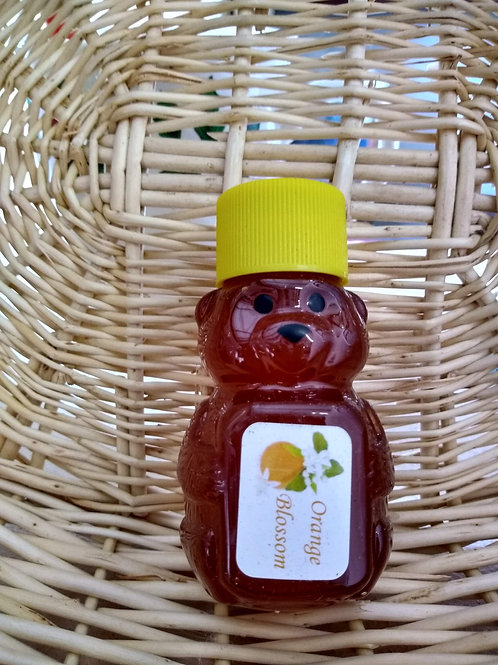 Orange Blossom Raw Honey Bear-2oz