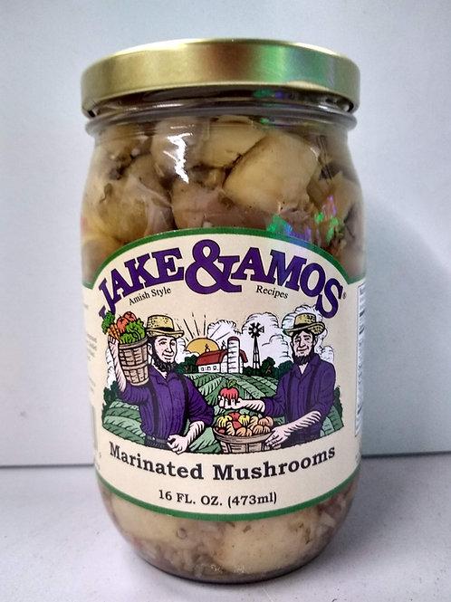 Jake & Amos Marinated Mushrooms- 16oz