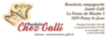 Annonce quart de page Boucherie Gallli l