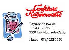 Confitures Raymounette Les Monts-de-Pully