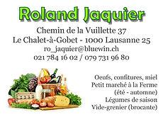 Roland Jaquier Le Chalet-à-Gobet