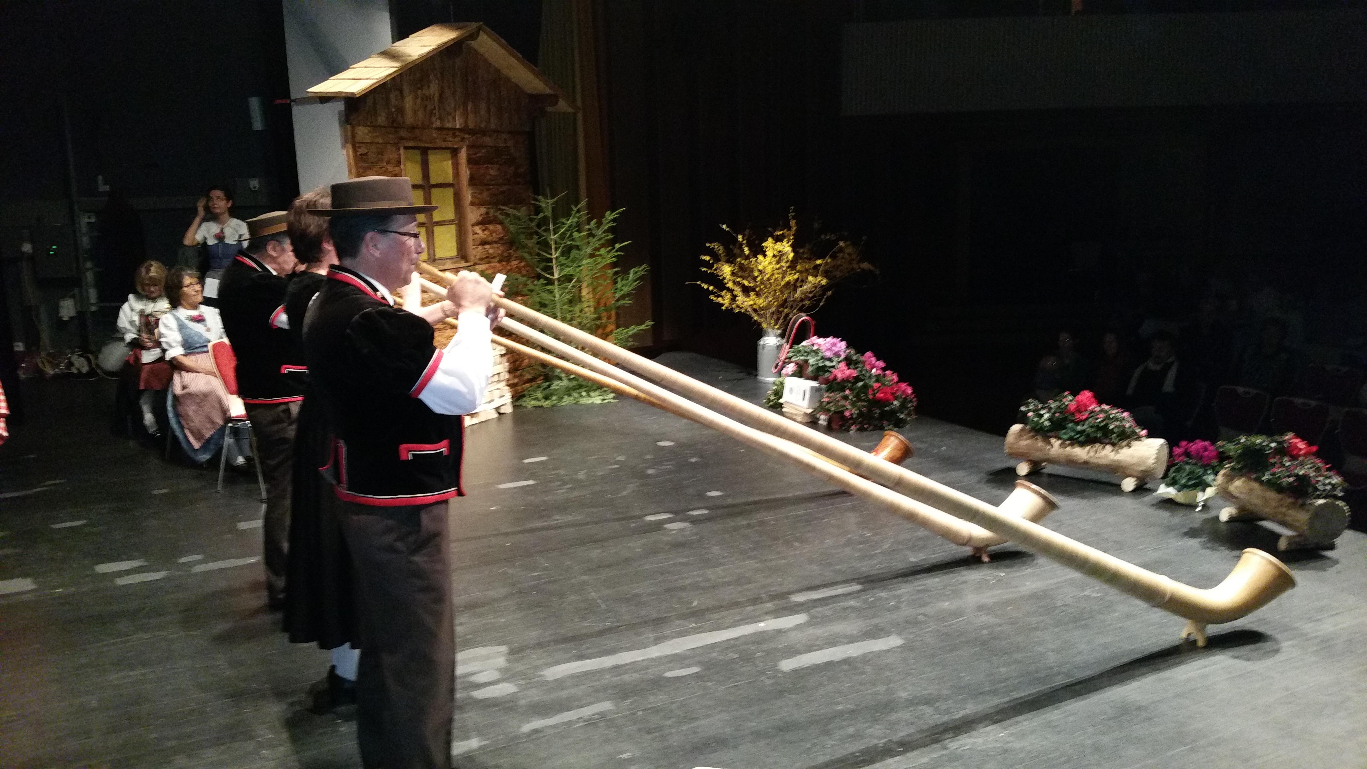 Les cors des Alpes sur scène