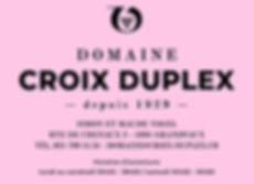 Annonce Croix-Duplex demi-page rose moye